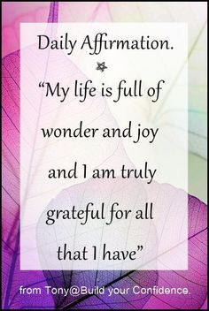 Daily Affirmation / quotes for inspiration