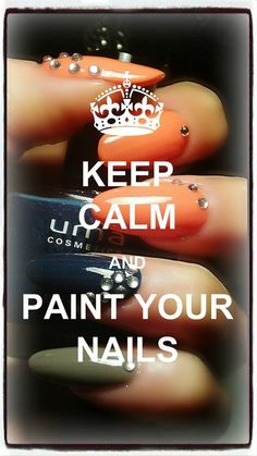 Keep Calm Paint Your Nails - - http://Bellashoot.com | See more nail designs at http://www.nailsss.com/...