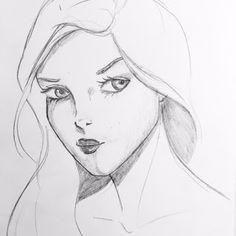 Schizzo della strega Viviana #lamusadellanotte