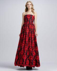 2b8df398409b Alice + Olivia Kassandra Strapless Silk Gown - Neiman Marcus Silk Gown