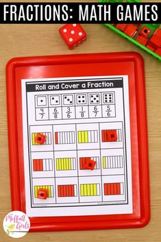 Fractions can be so much fun to practice in Grade. By this grade level, students should be well acquainted with simple fractions, and they can Frog Fractions, 3rd Grade Fractions, Third Grade Math, Fun Math, Math Games, Fraction Word Problems, Core Learning, Daily Lesson Plan, Math Boards