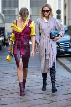 On the street at SS17 Milan Fashion Week. Photo: Chiara Marina Grioni/Fashionista.