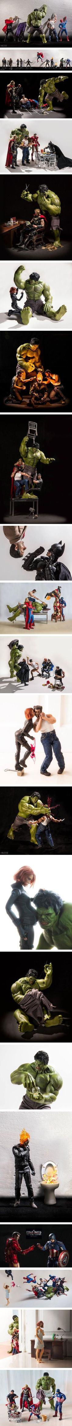 The Secret Life of the Superheroes. - superhero toys photography by Edy Hardjo, an Indonesian.: