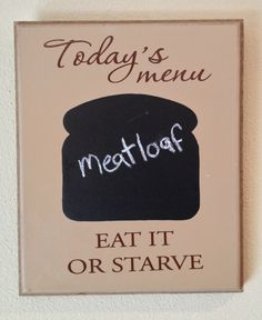 Kitchen Chalkboard, Todays Menu, Kitchen Decor, Wood Sign, Hand Crafted, By ToYourDoorDecor on Etsy!