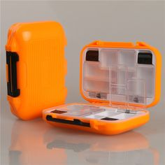 High Quality Fishing Tackle Lure Bait Waterproof Fly Box Slit Foam And Compartments Fly Fishing Box Fly Fishing Tackle, Fishing Tackle Box, Fly Fishing Rods, Fishing Reels, Fishing Tips, Fishing Lures, Mousse, Orange Amps, Salmon Fishing