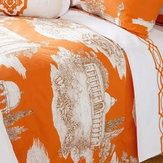 ORANGE LANDSCAPE BEDDING - Bedding - Bedroom | Zara Home United States