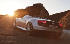 Sun Audi luxury sport cars silver cars Electric car german cars Audi E-Tron Spider Audi E-Tron Spyder rear view cars cars sports cars sport cars vs lamborghini cars Expensive Sports Cars, Luxury Sports Cars, Sport Cars, Ferrari, Lamborghini, Diesel, Automobile, Silver Car, Car Hd