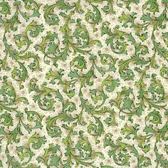 Traditional Florentine Print Paper in Greens ~ Italy