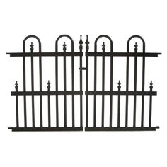 Specrail, Garden Perimeter 2 in. x 3 ft. x 2 ft. Aluminum Fence Panel, at The Home Depot - Mobile Front Yard Fence, Farm Fence, Low Fence, Rustic Fence, Fence Art, Fence Doors, Fence Panels, Fence Landscaping, Backyard Fences