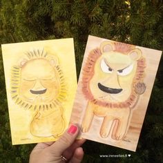 Hyvää nimipäivää Aleksi ja Alexis!  http://www.ireneellen.fi #nimipäivä #kortti #leijona #IreneEllen