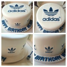 Adidas Cake! Well ok it's a good one and my edible printer has been at work lately! Vanilla cake with Vanilla Buttercream, covered in while fondant and decorated with printed fondant adidas logo sheets. Made by me Elena Purton.