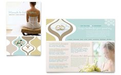 Wedding Store and Supplies Brochure Template Design by StockLayouts