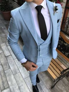 Wearing Stylish Mens Fashion Jackets - Top Fashion For Men Stylish Mens Fashion, Mens Fashion Suits, Mens Suits, Marriage Suits, Best Suits For Men, Suits For Boys, Blazer Outfits Men, Blue Suit Men, Blue Suits