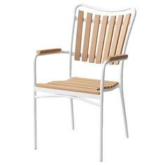 White Scandinavian Style Outdoor Chair - Retrojan