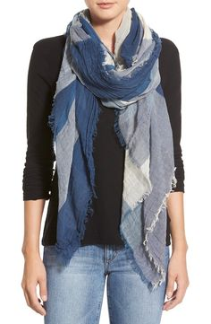The blue check pattern on this lightweight scarf is so pretty! From Nordstrom.