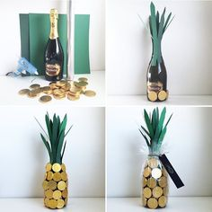 Make personal DIY birthday gifts for your friends and family! We've gathered 30 homemade birthday gifts for you to pick and choose from! Homemade Birthday Gifts, Diy Birthday, Homemade Gifts, Birthday Presents, Pineapple Gifts, Beautiful Birthday Cards, Wine Bottle Covers, Navidad Diy, 30 Gifts