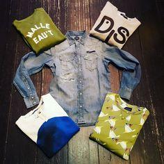 Sweater VS denimshirt #diesel #scotchandsoda #amsterdamsblauw #cheaque