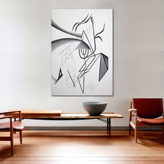 Painting Composition VI by David  Kounovsky (oil on canvas, 65in H x 47in W)