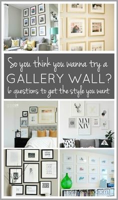 So you want to try a gallery wall?