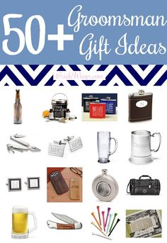 Traditionally, the groom thanks his best man and groomsmen for being in the wedding with a thoughtful gift. Men can sometimes be a little harder to shop for than women so we've gathered over 50 of the best groomsmen gift ideas!