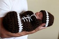 Wish   Newborn Baby Boys Girls Cute Rugby Hat Sleeping Bag Set Clothes Costume Crochet Knitted Handmade Photography Prop Outfits