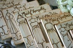 Bridesmaid Gifts Set of 5 for Maid of Honor and by PrinceWhitaker. , via Etsy.