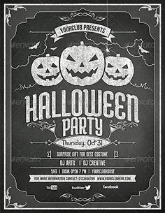 Nothing says Halloween party more than a cool flyer. Halloween Party Flyer, Halloween Poster, Halloween Design, Halloween Art, Office Parties, Surprise Gifts, Cool Costumes, Graphic Design Inspiration, Happy Holidays