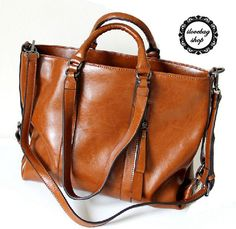 5 color Large Leather Tote by ilovebagshop on Etsy, $89.99