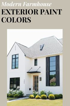 Designer tested and approved color schemes for your modern farmhouse exterior! Best House Colors Exterior, Farmhouse Exterior Colors, White Exterior Paint, Farmhouse Paint Colors, House Paint Exterior, Exterior Siding, Grey Exterior, Exterior Design, Exterior Paint Color Combinations