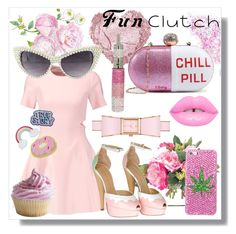 """Fun Clutch"" by crystalcult ❤ liked on Polyvore featuring Posh Girl, NDI, Elizabeth and James, Charlotte Olympia, Kate Spade, thecrystalcult and funclutch"