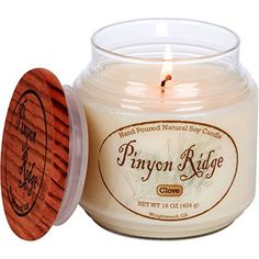 Authentic Hand Poured Natural Soy Candle 16oz  Clove  100 Hour Burn Time  Crafted in the USA by Pinyon Ridge ** See this great product.