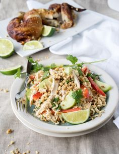 Thai Chicken Pasta Salad- cool, easy and fresh!