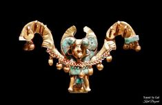 Nose Ornament, Moche (1-800 CE). Larco Museum, Lima