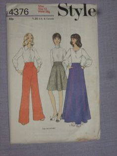 Shop for everything but the ordinary. More than sellers offering you a vibrant collection of fashion, collectibles, home decor, and more. Crissy Doll, Vintage Fashion, Vintage Style, Vintage Sewing Patterns, Pattern Fashion, The Ordinary, Size 12, Trousers, Vogue