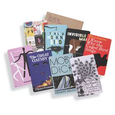 These notecards feature iconic cover art from early editions of seven classic works.  Your greetings are covered with literary panache!