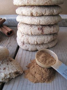 AIP / Paleo Crispy Cinnamon Thin Cookies  Uses Tiger nut flour as the main flour along with arrowroot flour.