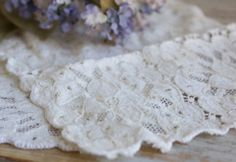 2 Vintage Crochet Doilies  Hand Crochet Small Doiley by MollyFinds