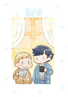 Sherlock BBC Fan Art | bbc sherlock snowy day by twosugars16 fan art digital art