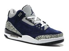 finest selection a7051 97626 Air Jordan 3 Retro Chaussures pour Homme Bleu Gris jordan 3 homme-Air Jordan