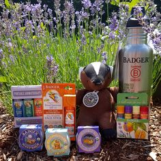 enter to win this truly unique product selection from Badger Balm, a USA made company that supports locally & USA products