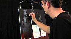 Oil and Acrylic Soda Bottles painting in progress by Tim Gagnon Session ...