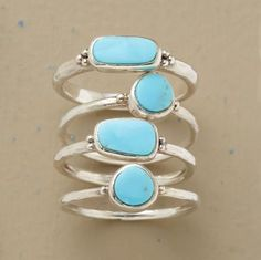 bright turquoise and silver, you can rock it in delicate or chunky pieces