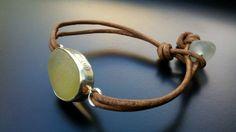 Sea Glass Jewelry Sea Glass Bracelet by JulieAndersonDesign, $59.00