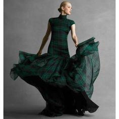 06-06-12: Adore my tartan Ralph Lauren dress. I love it's so formal here for dinner. I really like 'dressing up' for meals.