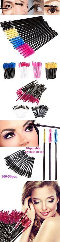 Eyelash Tools: 100/500Pc Disposable Eyelash Brush Mascara Wands Applicator Spoolers Wholesales -> BUY IT NOW ONLY: $30.97 on eBay!