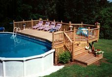 Oval Pool Deck Idea
