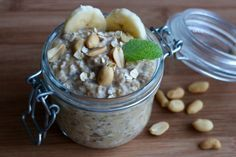 Erdnussbutter-Bananen-Overnight-Oats | Lauras Blog
