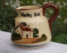 "Torquay Motto Ware Pottery Jug ""Wookey Hole""- Miniature Jug"