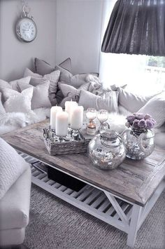 Grey Living Room Cozy Modern Interior Design Contemporary Couches Home Decorating Apartment Small Spaces