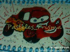 Pastel para cumpleaños de El rayo mcqueen